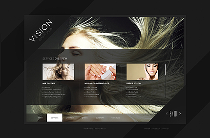 Template 39907 ( Services Page ) ADOBE Photoshop Screenshot
