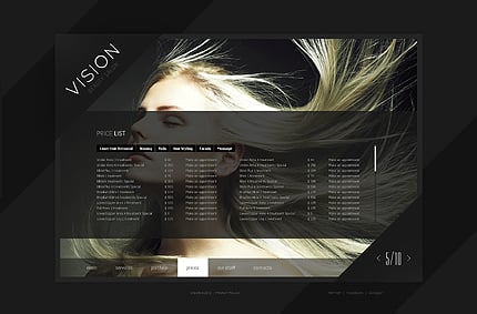 Template 39907 ( Prices Page ) ADOBE Photoshop Screenshot