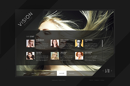 Template 39907 ( Our Staff Page ) ADOBE Photoshop Screenshot