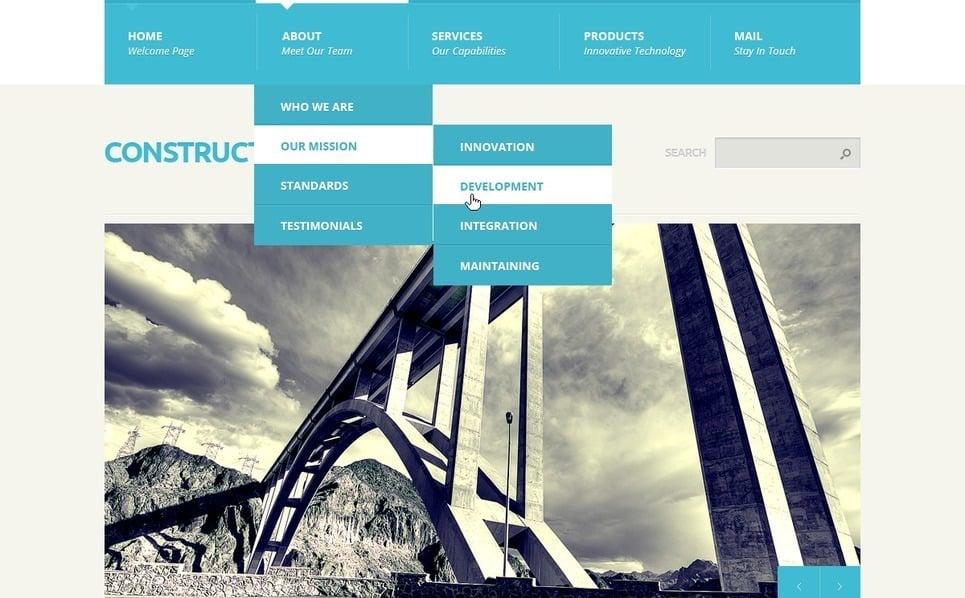Joomla Template over Bouwbedrijf New Screenshots BIG