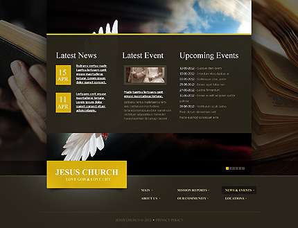 Template 39916 ( News & events Page ) ADOBE Photoshop Screenshot