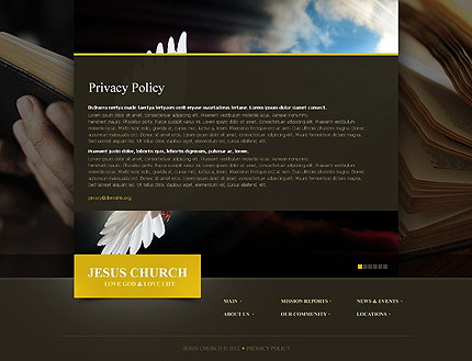 Template 39916 ( Privacy Policy Page ) ADOBE Photoshop Screenshot