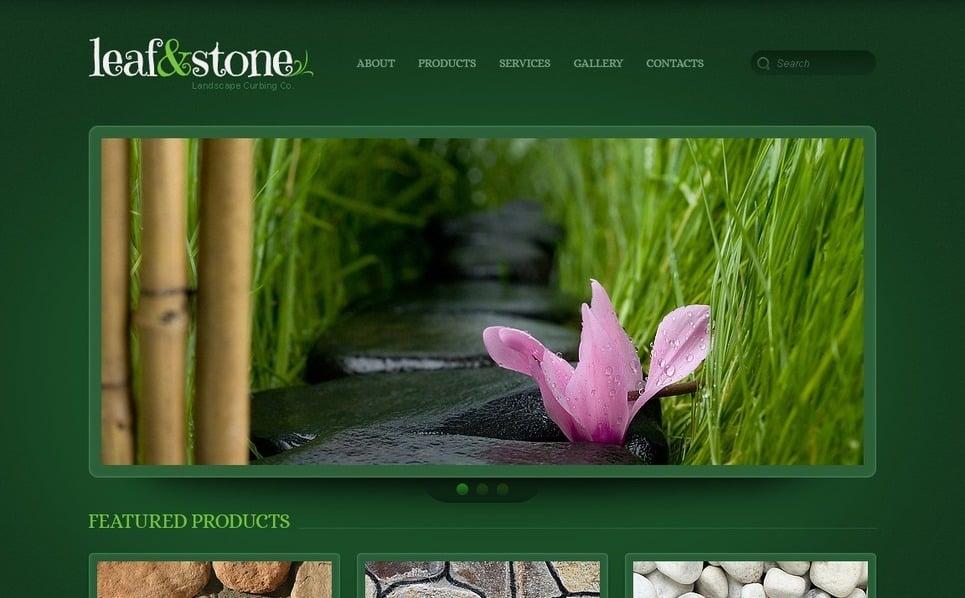 Responsive Website Vorlage für Landschaftsgestaltung  New Screenshots BIG