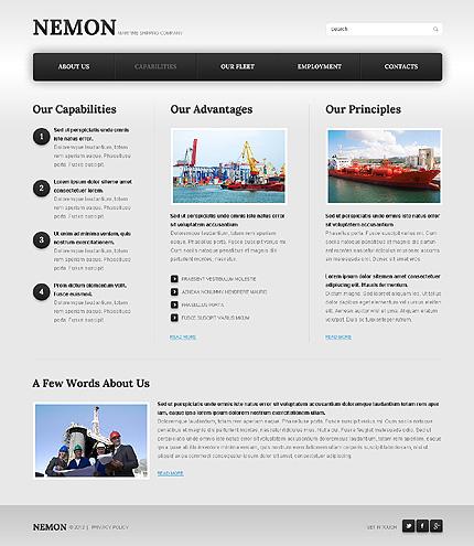 Template 39923 ( Capabilities Page ) ADOBE Photoshop Screenshot