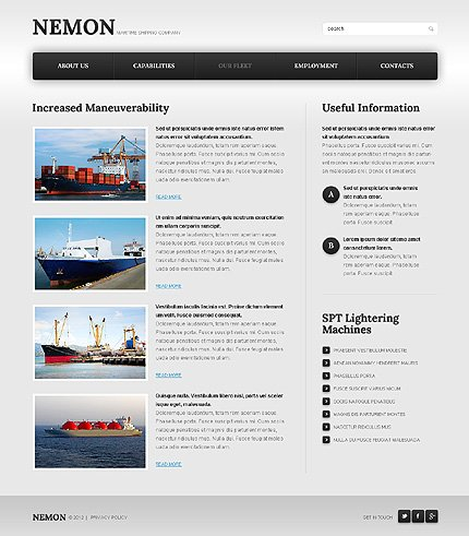 Template 39923 ( Our Fleet Page ) ADOBE Photoshop Screenshot