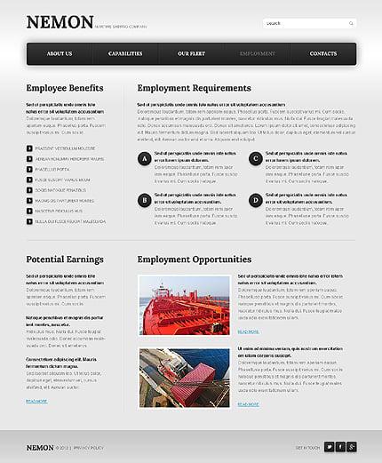 Template 39923 ( Employment Page ) ADOBE Photoshop Screenshot