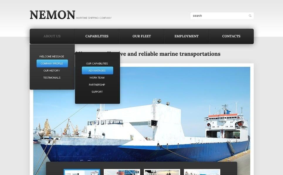 Šablona webových stránek Námořní šablony New Screenshots BIG