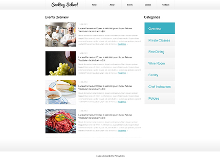 Template 39926 ( Events Page ) ADOBE Photoshop Screenshot