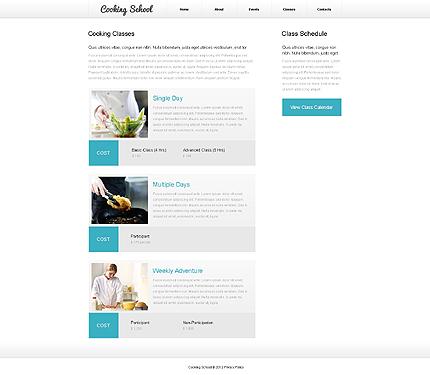 Template 39926 ( Classes Page ) ADOBE Photoshop Screenshot