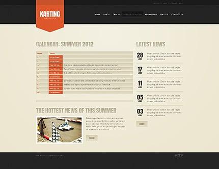 Sport Website Template  Website Templates  Zeronese