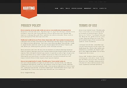 Sport Website Template Website Templates Zeronese - Privacy page template