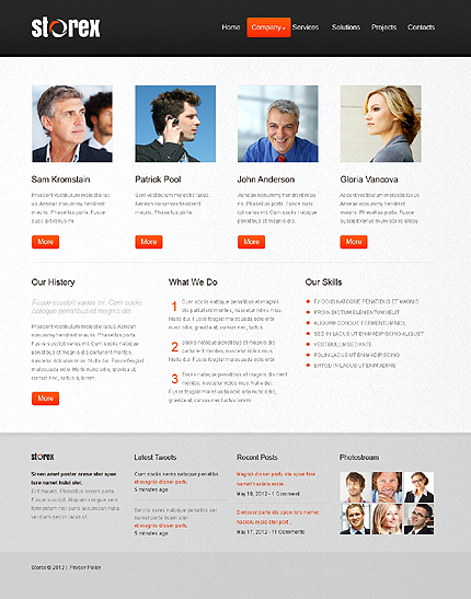 Template 39930 ( Company Page ) ADOBE Photoshop Screenshot