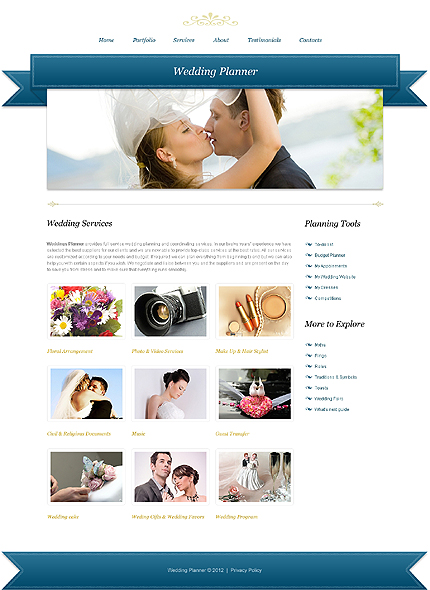 Template 39931 ( Services Page ) ADOBE Photoshop Screenshot