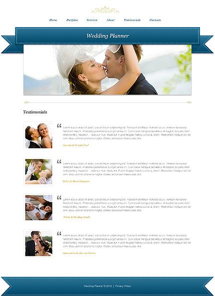 Template 39931 ( Testimonials Page ) ADOBE Photoshop Screenshot