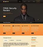 Security Website  Template 39932