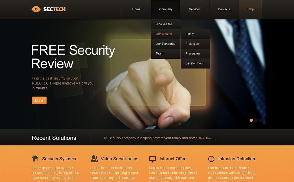 Információbiztonság Weboldal sablon New Screenshots BIG