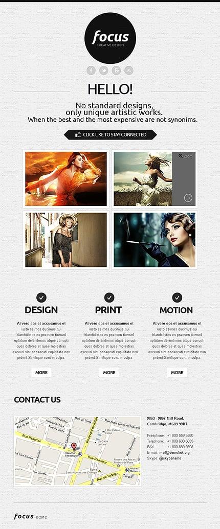 ADOBE Photoshop Template 39944 Home Page Screenshot