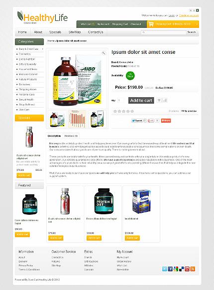 ADOBE Photoshop Template 39946 Home Page Screenshot
