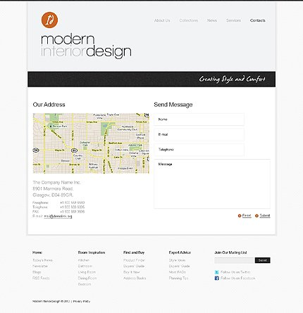 Template 39965 ( Contacts Page ) ADOBE Photoshop Screenshot