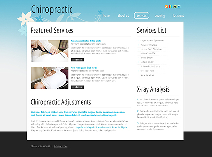 Template 39966 ( Services Page ) ADOBE Photoshop Screenshot