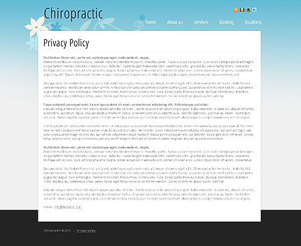 Template 39966 ( Privacy Policy Page ) ADOBE Photoshop Screenshot