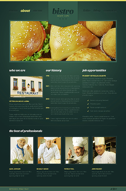 Template 39974 ( About Page ) ADOBE Photoshop Screenshot