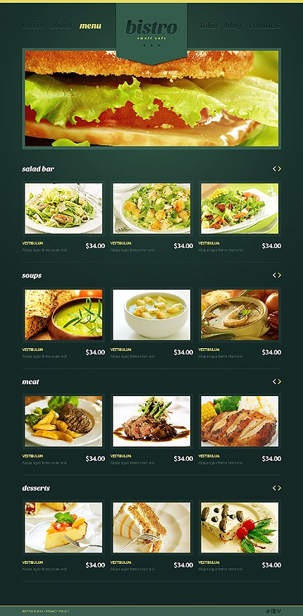 Template 39974 ( Menu Page ) ADOBE Photoshop Screenshot