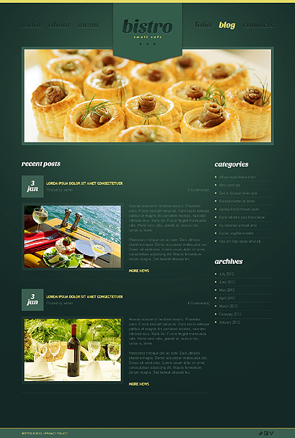 Template 39974 ( Blog Page ) ADOBE Photoshop Screenshot
