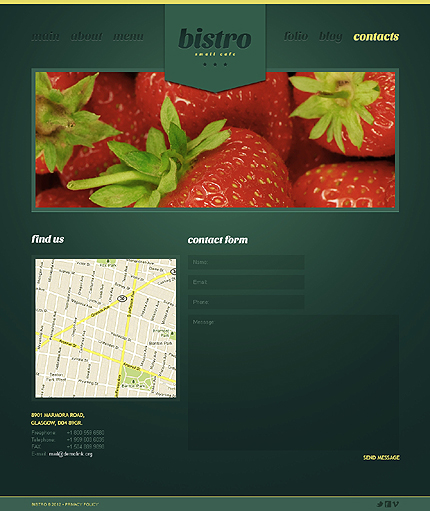 Template 39974 ( Contacts Page ) ADOBE Photoshop Screenshot