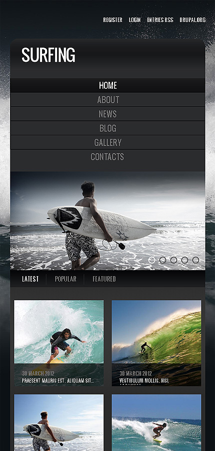 Drupal Template 39988 Main Page Screenshot