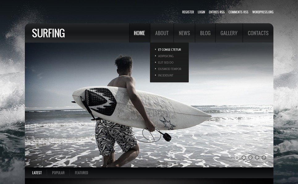 Responsive Drupal Template over Surfen  New Screenshots BIG