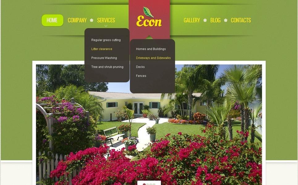 Szablon Drupal #39990 na temat: architektura krajobrazu New Screenshots BIG