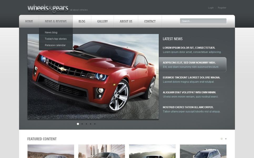 Drupal Vorlage für Räder & Reifen  New Screenshots BIG