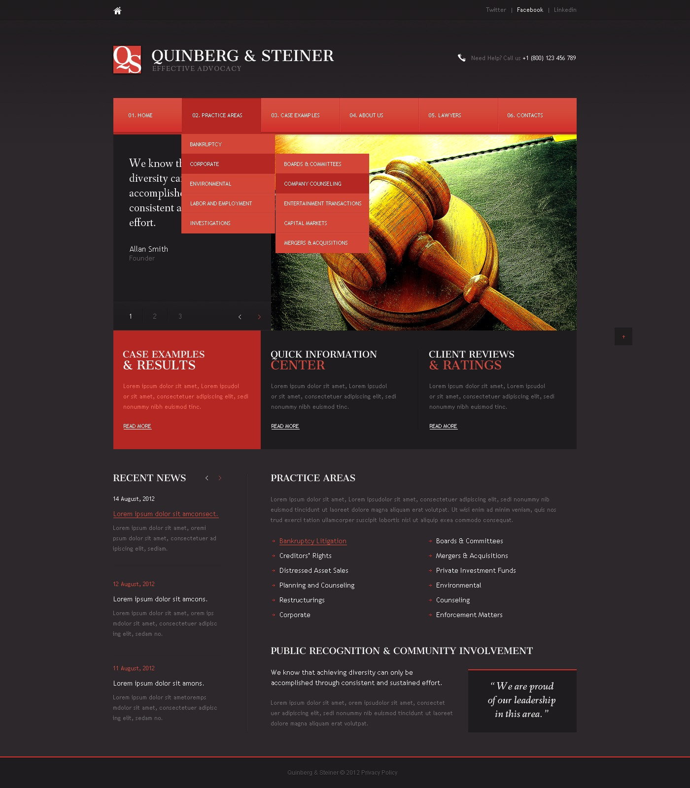 Law Firm Website Template #39935