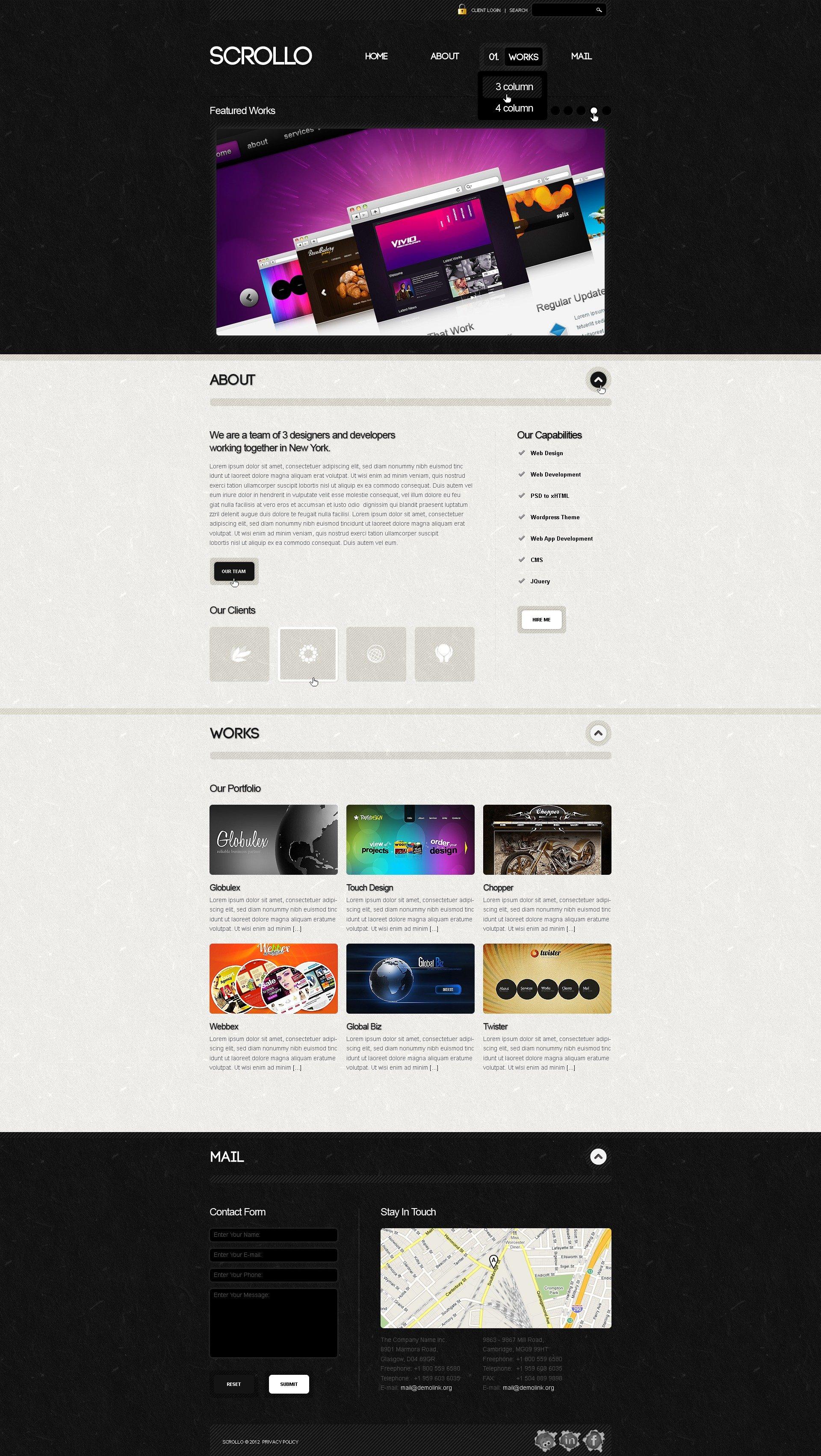Modello WordPress #39908 per Un Sito di Design Studio - screenshot