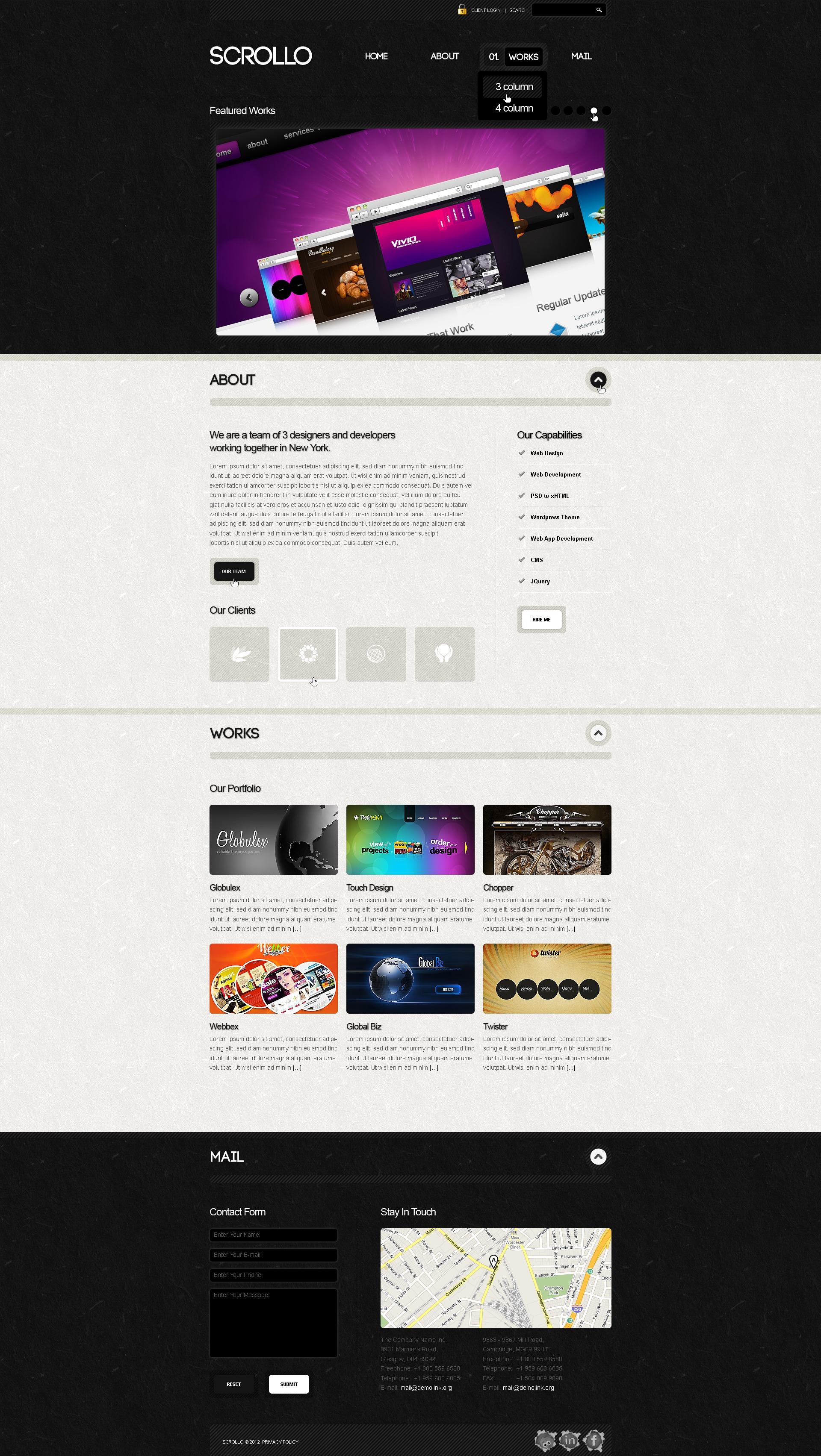 Motyw WordPress #39908 na temat: studio projektowe - zrzut ekranu