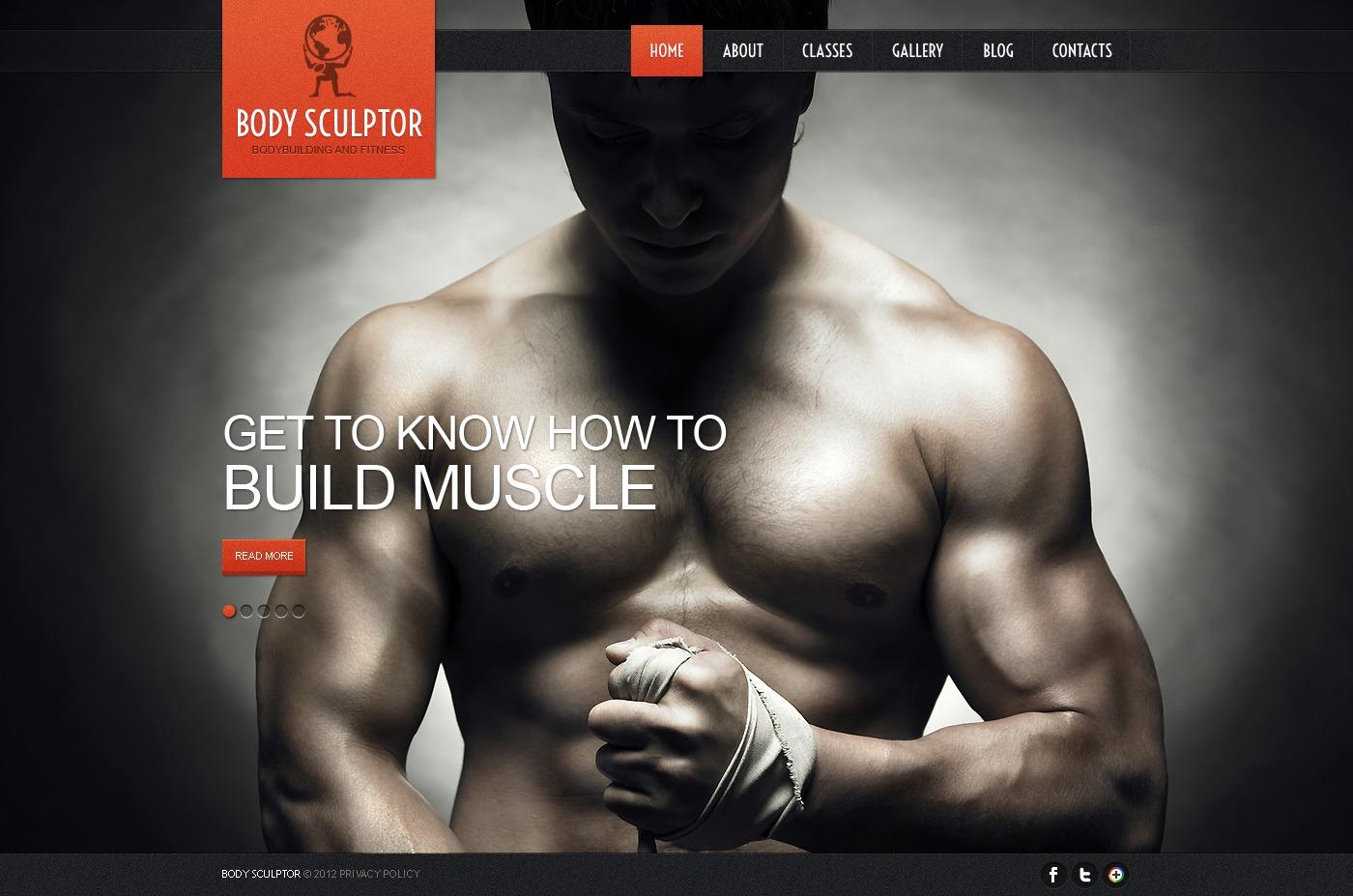 Tema De WordPress #39941 para Sitio de Culturismo - captura de pantalla