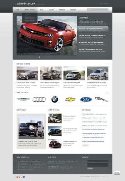 Wheels & Tires Drupal Template