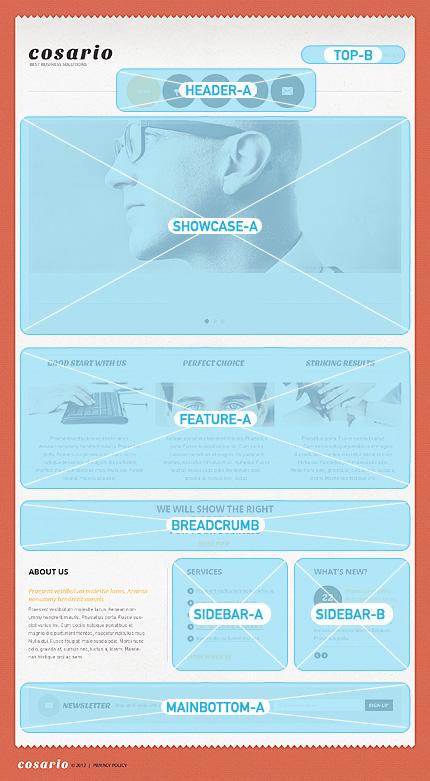 Joomla Theme/Template 40006 Main Page Screenshot