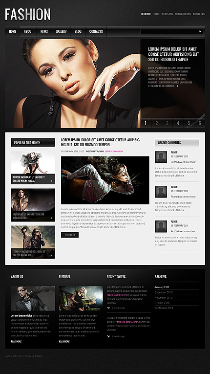 Joomla Theme/Template 40008 Main Page Screenshot