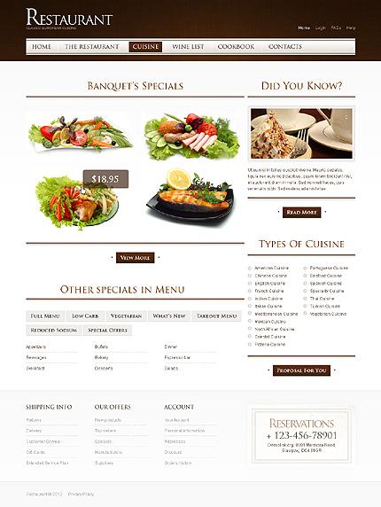 Template 40015 ( Cuisine Page ) ADOBE Photoshop Screenshot