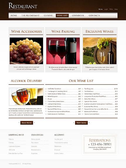 Template 40015 ( Wine list Page ) ADOBE Photoshop Screenshot
