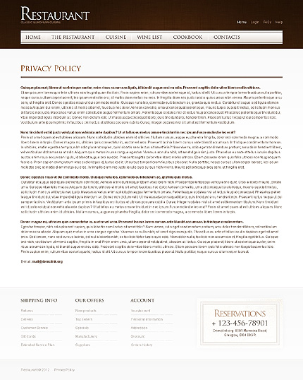 Template 40015 ( Privacy Policy Page ) ADOBE Photoshop Screenshot