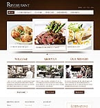 Cafe & Restaurant Website  Template 40015