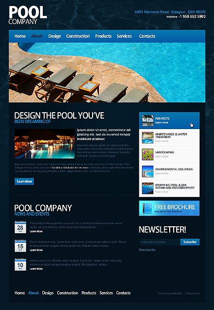 Template 40017 ( About Page ) ADOBE Photoshop Screenshot