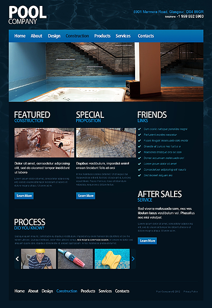 Template 40017 ( Construction Page ) ADOBE Photoshop Screenshot