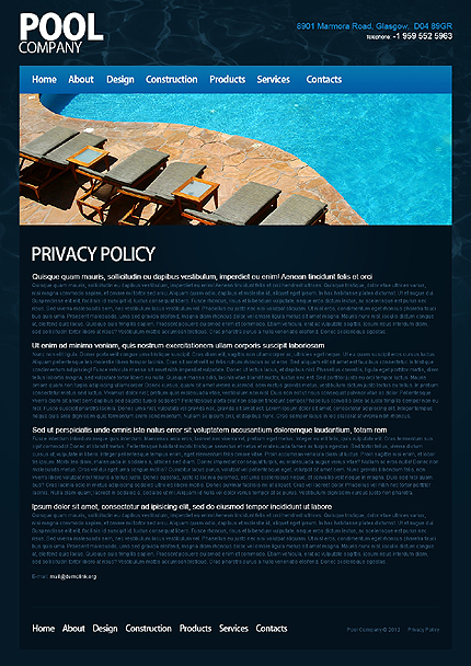 Template 40017 ( Privacy Policy Page ) ADOBE Photoshop Screenshot