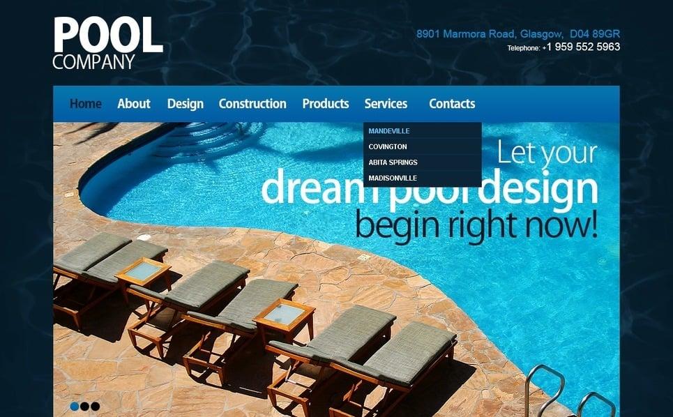 Responsive Swimming Pool Templates Web Sitesi Şablonu New Screenshots BIG