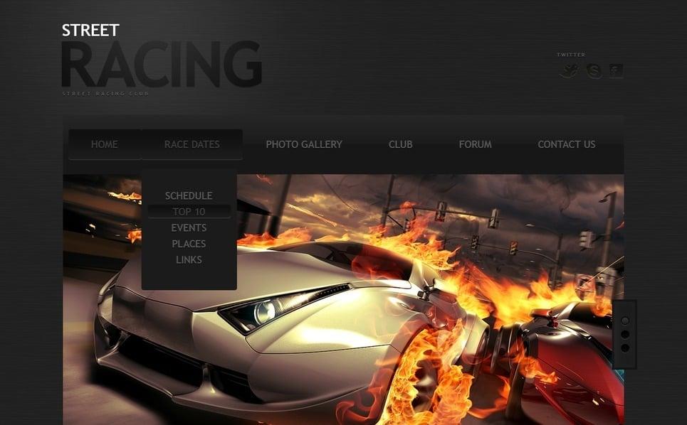 Szablon Strona Www #40023 na temat: samochód wyścigowy New Screenshots BIG