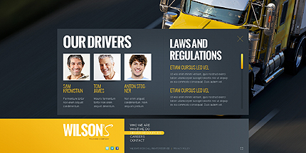 Template 40025 ( Driver resources Page ) ADOBE Photoshop Screenshot